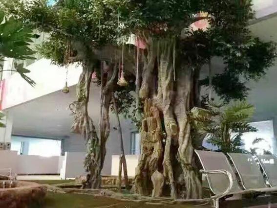 室外大型水泥仿真榕树