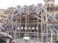 水泥直塑场景大门塑造
