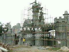 主题公园塑石城堡大门制作